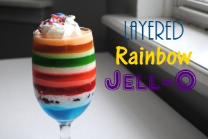 Layered Rainbow Jello Desserts