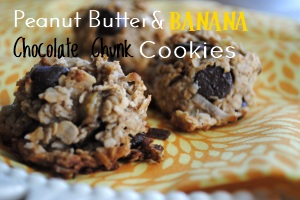 Peanut Butter Banana Chocolate Chunk Cookies Desserts