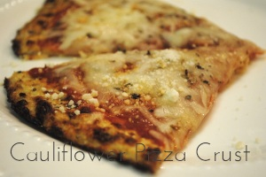 Cauliflower Pizza Crust Main Dishes