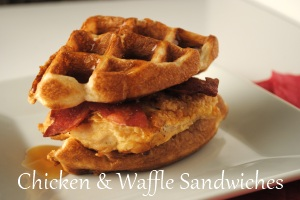 Chicken and Waffle Sandwiches Main Dishes