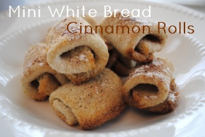 Mini White Bread Cinnamon Rolls Appetizers