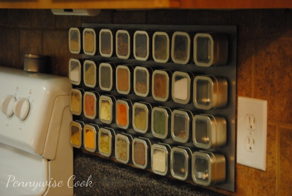 Spice Rack Completed 1 Magnetic Spice Rack DIY