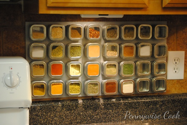 Spice Rack Completed Magnetic Spice Rack DIY