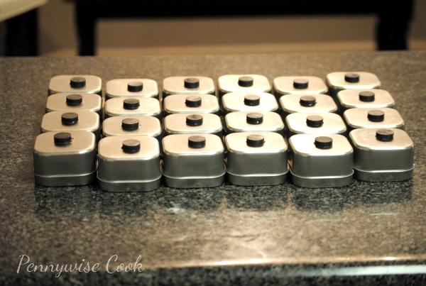 Spice Tins Magnetic Spice Rack DIY