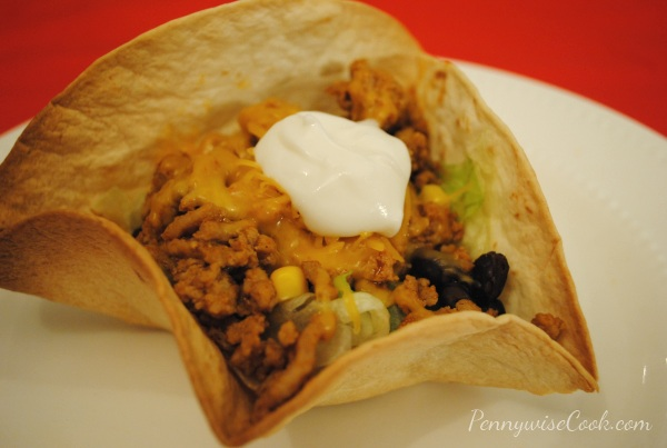 Taco Salad Tortilla 1 Quick and Simple Taco Salads
