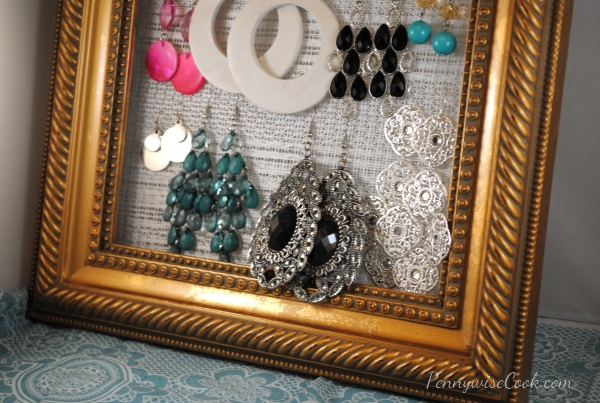 DIY Earring Holder 1 DIY Framed Earring Holder