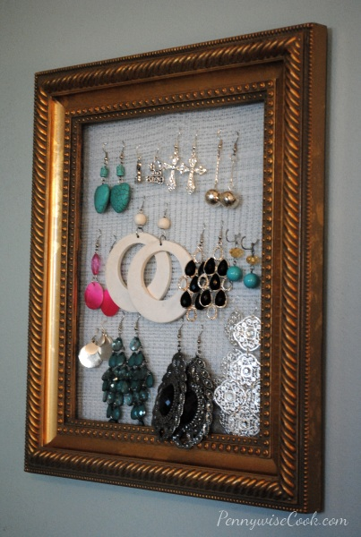 DIY Earring Holder 4 DIY Framed Earring Holder