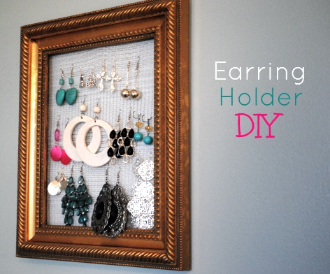 DIY Earring Holder 5 DIY Framed Earring Holder