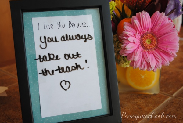 I Love You Because Sign DIY: Cute Way to Say I Love You