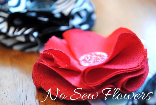 No Sew Fabric Flower Hair Clip