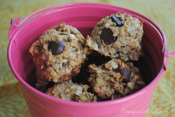 Pea Peanut Butter & Banana Chocolate Chunk Cookies