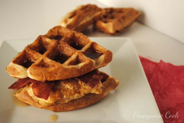 Sandwich 2 Chicken and Waffle Sandwiches