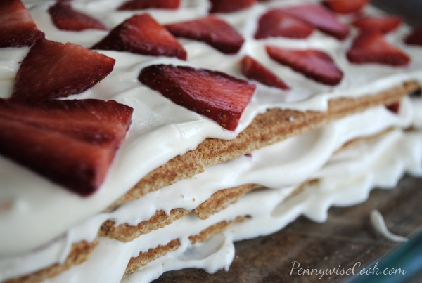 Strawberry Icebox Cake 2 No Bake Strawberry Icebox Cake