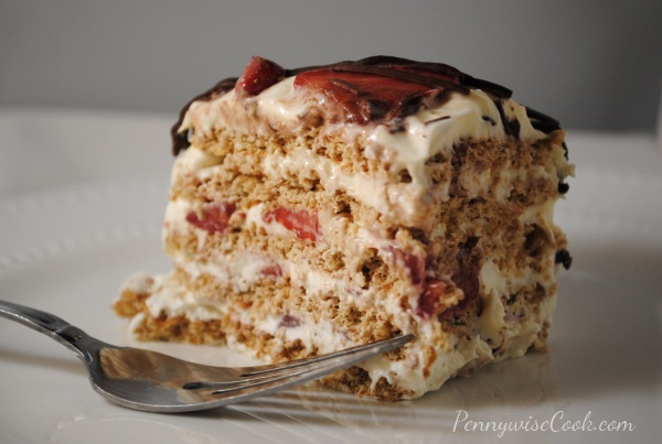 Strawberry Icebox Cake 6 No Bake Strawberry Icebox Cake