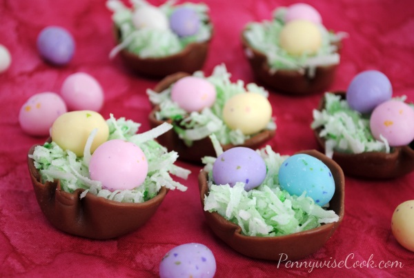 Tootsie Roll Easter Baskets 1 Easter Treats Week: Tootsie Roll Easter Nests