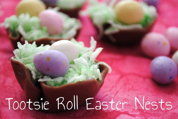 Tootsie Roll Easter Nests Easter Treats Week: Tootsie Roll Easter Nests