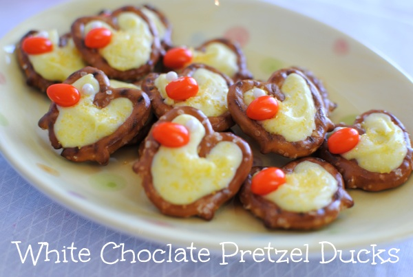 White Chocolate Pretzel Ducks 2 White Chocolate Pretzel Ducks