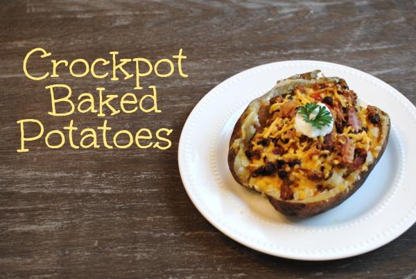 Crockpot Baked Potatoes 5 Crockpot Baked Potatoes