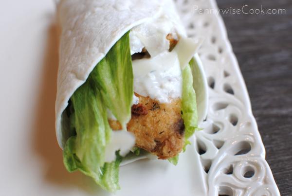 Crispy Chicken Caesar Wrap 2 Crispy Caesar Chicken Wraps