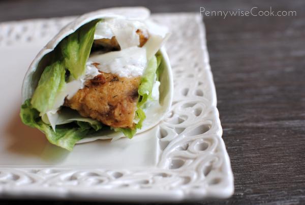 Crispy Chicken Caesar Wrap 3 Crispy Caesar Chicken Wraps