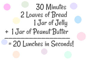 Freezer PB J 6 Freezer Peanut Butter and Jelly Sandwiches