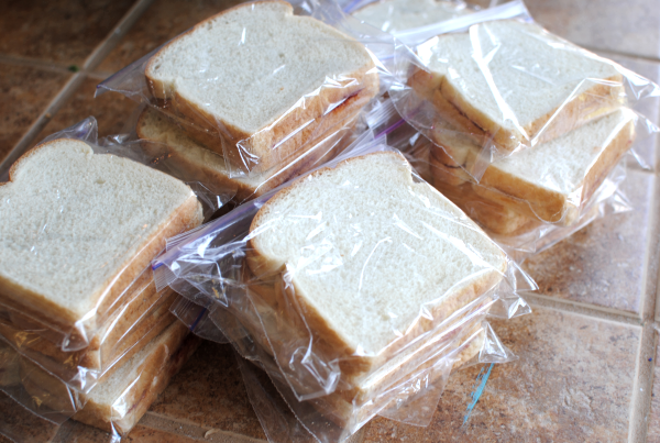 Freezer PB J 8 Freezer Peanut Butter and Jelly Sandwiches