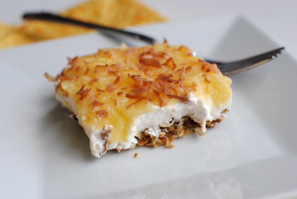 Pineapple Toasted Coconut Pretzel Salad 3 Pineapple Toasted Coconut Pretzel Salad