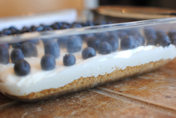 Fluffy Lemon Blueberry Cheesecake 3 Fluffy Lemon Blueberry Cheesecake