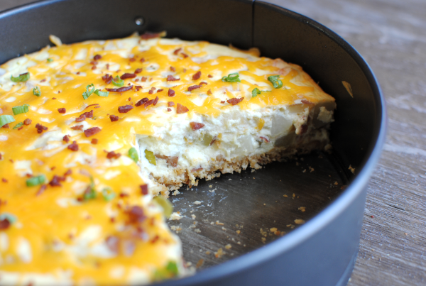 Loaded Potato Cheesecake 2 Loaded Potato Cheesecake