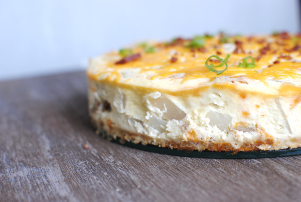 Loaded Potato Cheesecake Loaded Potato Cheesecake
