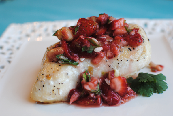 Strawberry Salsa Chicken 1 Strawberry Salsa Chicken