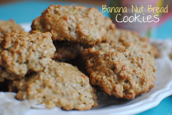 Banana Nut Bread Cookies 1 Banana Nut Bread Cookies