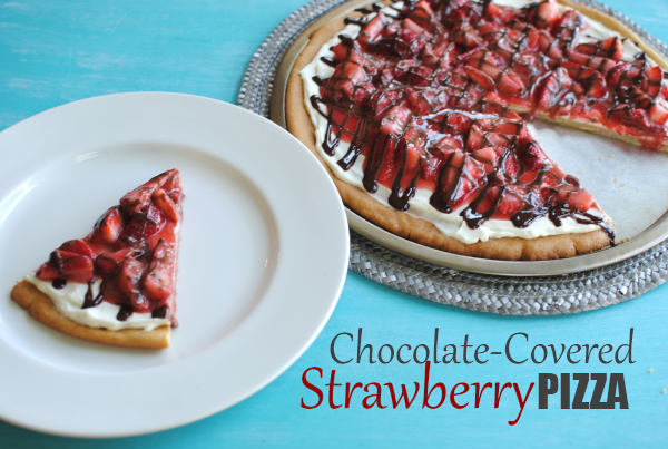 Chocolate Covered Strawberry Pizza 6 Chocolate Covered Strawberry Pizza