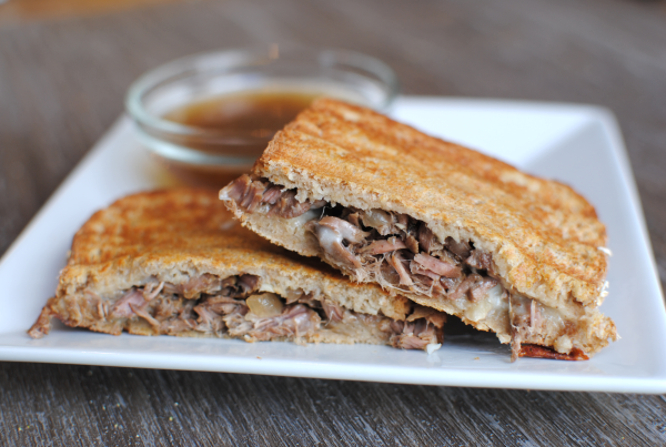 Crockpot French Dip Paninis 2 Crockpot French Dip Paninis