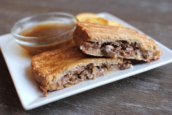 Crockpot French Dip Paninis 4 Crockpot French Dip Paninis