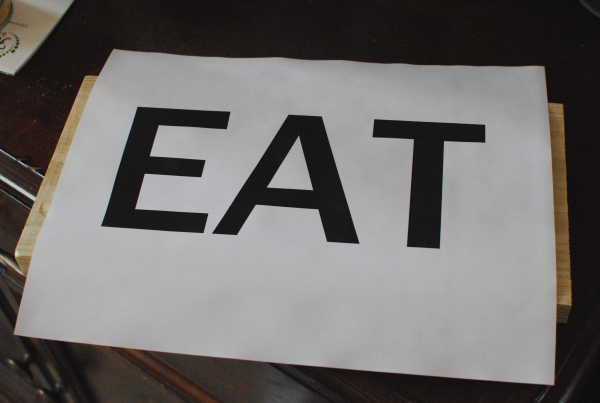 DIY Eat Sign 5 DIY Wooden Eat Sign