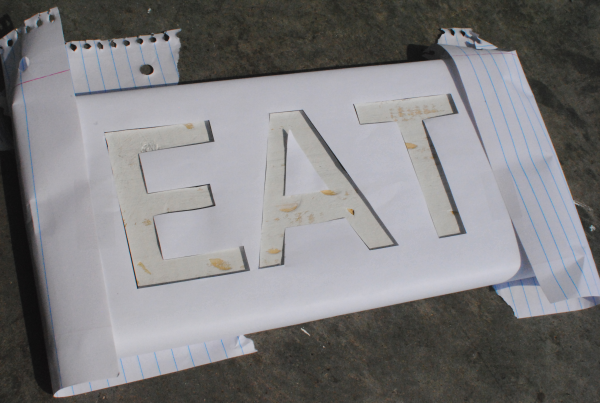 DIY Eat Sign 6 DIY Wooden Eat Sign