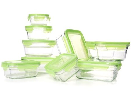Glasslock 18 Piece Glasslock Snapware Tempered Food Storage Set $19.99