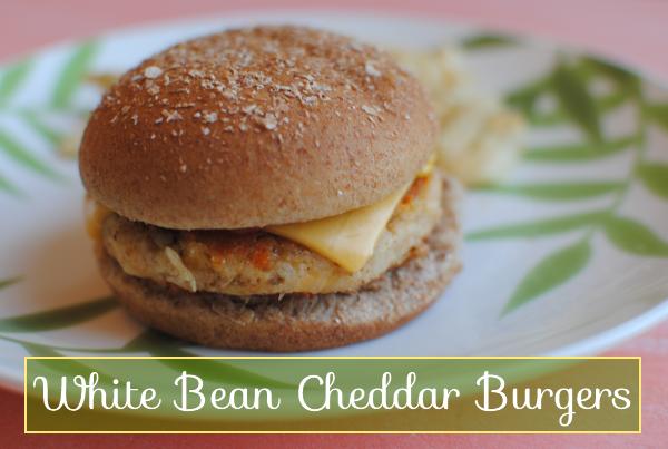 White Bean Cheddar Burgers 1 White Bean Cheddar Burgers