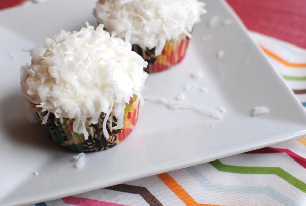 Coconut Poke Cupcakes 2 Coconut Poke Cupcakes