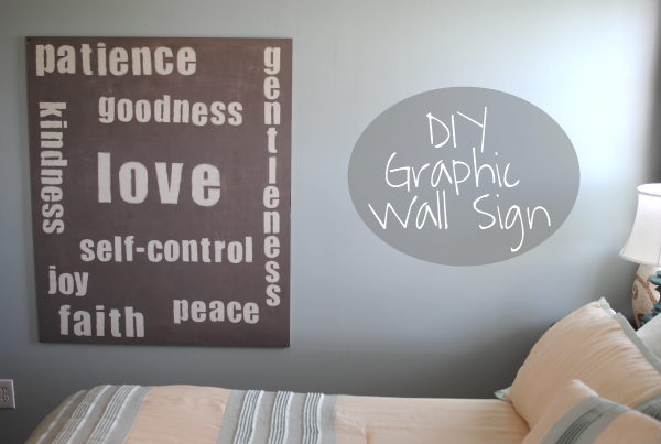 Graphic Wall Sign 2 DIY Large Graphic Wall Sign