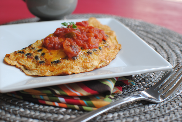 Southwestern Black Bean Omelet 1 Southwestern Black Bean Omelet