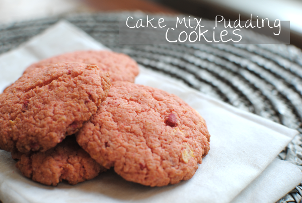 Strawberry Cake Mix Pudding Cookies 3 Cake Mix Pudding Cookies