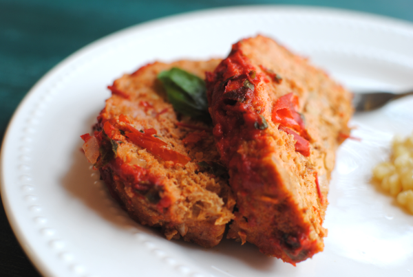Roasted Red Pepper Basil Meatloaf 2 Roasted Red Pepper Basil Meatloaf