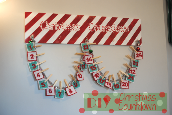 Christmas Countdown DIY 1 DIY Christmas Countdown