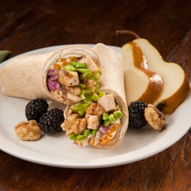 Chicken Avocado Pear Wrap Things That Say Cluck: Dinner Made Easy