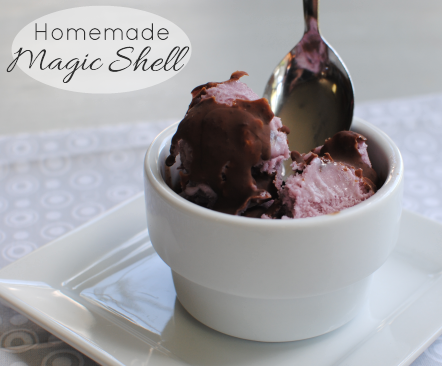 Homemade Magic Shell 2 2 Ingredient Homemade Magic Shell
