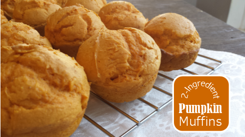 2 ingredient pumpkin muffins 2 Ingredient Pumpkin Muffins