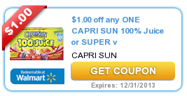 Capri Sun Coupon Target: Capri Sun Super V for $.33 Per Pack