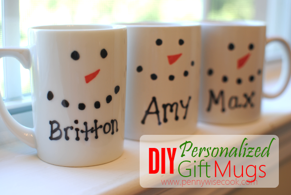 DIY Gift Mugs DIY Personalized Gift Mugs